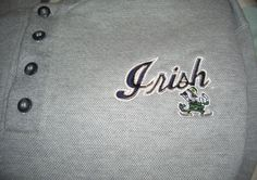 Fighting Irish Sweatshirt Pullover Large Crable Sportwear Heather Gray #Crable #NotreDameFightingIrish