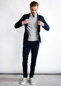 Men Clothing Great business outfit combined with classic pullover Men ClothingSource : Tolles Businessoutfit mit klassischem Pullover kombiniert by Mens Fashion Blog, Trendy Fashion, Fashion Fashion, Fashion Clothes, Fashion Outfits, Dress Fashion, Paris Fashion, Runway Fashion, Fashion Spring