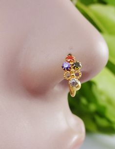 Indian Nose RingCartilageGold Nose StudIndian by TheEthnicJewels