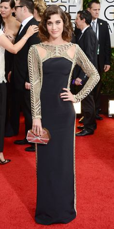 Red Carpet Arrivals - Lizzy Caplan in an Emilio Pucci gown from #InStyle