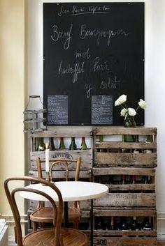 chalkboard wall in a coffee shop