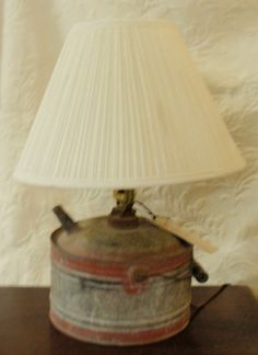 Vintage oil Can converted into a Lamp  by BridgewayAntiques, $95.00