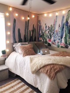 Cute decorations 72 fun girl's cute bedroom ideas with cute room decor Cute Bedroom Ideas, Cute Room Decor, Room Ideas Bedroom, Girls Bedroom, Master Bedroom, Bed Room, Bedroom Designs, Master Suite, Bedroom Inspo