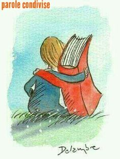 Books are friends. - illustration by Delambre (?), via Caption This on themindsjournal