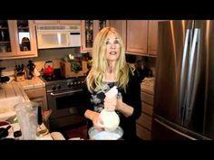 Mimi Kirk's VERY DECADENT dark cacao milk shake, using almond milk & avocado, etc