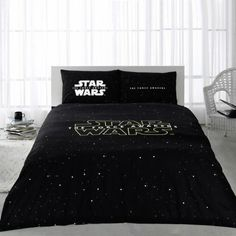 "Star Wars Bedding Set, Queen Size by Baharhan Star Wars Bedding Set, Queen Size, Genuine Licenced Fitted sheet: 160 x x (Fits to bed of Black ""Star Wars"" written on white bedsheet. Duvet cover: (not a Comforter, but just a ""Cover of Duvet/Comforter"") Queen Size Duvet Covers, Queen Comforter Sets, Bed Duvet Covers, Duvet Sets, Duvet Cover Sets, Double Bedding Sets, Purple Bedding Sets, Luxury Bedding Sets, Queen Size Quilt"