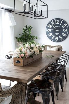 19 Comfy Farmhouse Dining Room Design Ideas