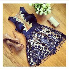 Lace and Chiffon Summer Party Dress