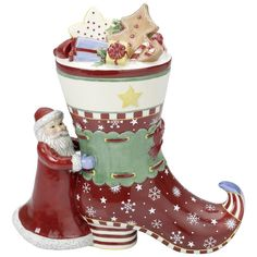 Villeroy and Boch Christmas - santa with a big boot