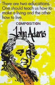 John Adams Print 11x17 Famous Seniors by senioritis on Etsy, $15.00