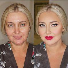 O poder da maquiagem... Nossa!