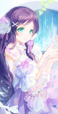 "H-Hello, I'm Yūrei Mitsuki (last, first). I'm a Japanese ghost and I am a senior. I actually don't remember how old I am, I kinda stopped counting! I typically wear pastel colors or flowers to ""pop"" in the dark surroundings of the school....I like fortune telling, haunting, singing, and story telling."