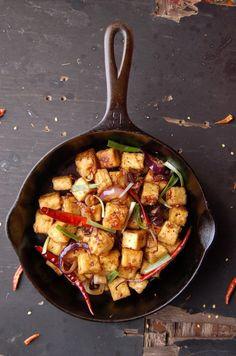 Fiery Garlic Tofu