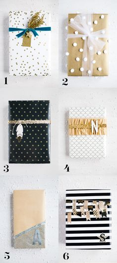 Take your wrapping to the next level! Glam Wrapping Ideas - step by step | Handmade Mood Wrapping Gifts, Wrap Gifts, Simple Gift Wrapping Ideas, Gold Wrapping Paper, Simple Gifts, Gift Wraping, Creative Gift Wrapping, Christmas Gift Wrapping, Creative Gifts