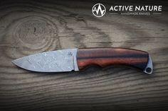 Active Nature - Handmade Knives Model: TS III AN made from Damasteel Damascus and Makassar handles Makassar, Handmade Knives, Damascus, Gears, Tools, Nature, Model, Knifes, Collectible Knives