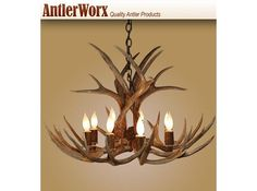Light Large Mule Deer Antler Chandelier At Rocky Mountain Cabin