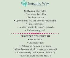 Co sprzyja empatii, a co nie? Asdf, Facts, Therapy, Knowledge