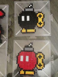 Two Bob-ombs Mario perler beads by S Sharda