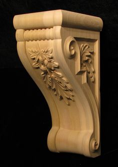Wood Carved Oak Leaf and Acorn Corbel www.stella-stroy-dv.ru (Woodworking Ebanisteria)