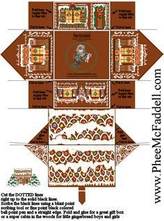 printable 3d gingerbread house - Google Search