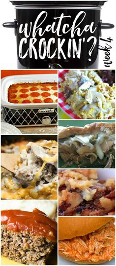 This week's Whatcha Crockin' crock pot recipes include Crock Pot Chicken and…
