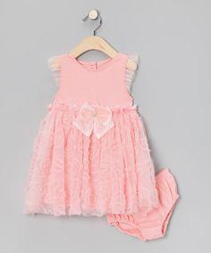 Look at this #zulilyfind! Salmon Dress & Bloomers  by Nannette #zulilyfinds