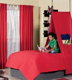 New Bunk Bed Tent Canopy for Boys and Girls 4 Models to Choose From Boys Bed Canopy, Bunk Bed Tent, Canopy Tent, Bunk Beds, Tents, Camping Bedroom, Kids Bedroom, Kids Rooms, Bedroom Ideas