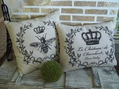 French Pillows  Royal French Crown  Royal by SimplyFrenchMarket, $55.00
