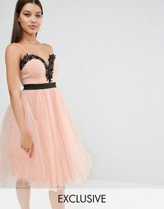 Rare | Rare London Lace Top Tulle Dress