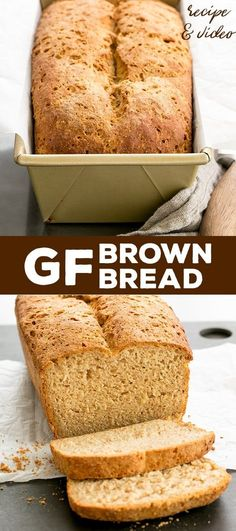 Hearty and wheat-y tasting, this gluten free brown bread recipe is sure to be a family favorite. It couldn't be easier, and you don't need a bread machine! #glutenfree #bread #recipe