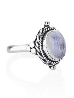 Little Luna Moonstone ring simply represents the beauty that the moon provides for the world. The sterling silver ring is available at http://www.shopdixi.com/products/little-luna-moonstone-ring // boho // jewellery  //moon // fashion // style // moonstone