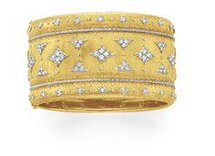 A Diamond and Gold Bangle Bracelet, by Buccellati
