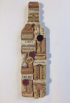 Wine Bottle Upcycled Cork Wall Art - Upcycled Home Decor - Wine Cork Bar Decor .- Wine Bottle Upcycled Cork Wall Art – Upcycled Home Decor – Wine Cork Bar Decor – Wine Gifts – Wine Cork Art – Wine Decor – Housewarming Gift Wine Craft, Wine Cork Crafts, Wine Bottle Crafts, Champagne Cork Crafts, Champagne Corks, Wine Bottle Wall, Wine Bottle Corks, Bottle Candles, Wine Cork Projects