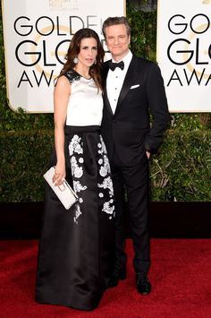 Pin for Later: Hollywood's Hottest Couples Take Over the Globes Red Carpet Colin…