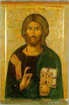 231.jpg (399×600) Jesus Christ Saviour and Life Giver, Mitropolitian John the icon-painter, 1384, Today - Museum of Macedonia, Skopje.