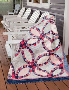 Modern Heritage Quilts: New Classics for Every Generation: Amy Ellis: wedding ring quilt. affiliate link.
