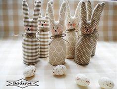 """"""" Ušatí"""" v béžovom ( sada 3 ks) by badian - SAShE.sk - Handmade Dekorácie"""