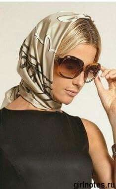 56 Best Headscarf images | How to wear scarves, Silk scarves ...