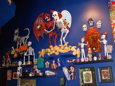 Boneyard Cantina.  Mexican Restaurant in the Lumberyard, Atlanta, GA  Unusual decorating!