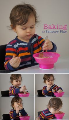 Baking as sensory play