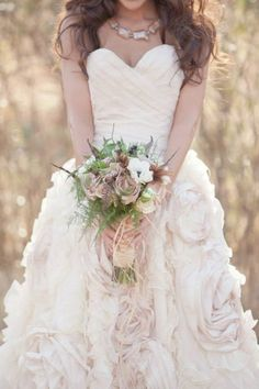 Romantic, Rustic Bohemian Wedding Gowns from Sareh Nouri | Equally Wed - A gay, lesbian and allied wedding website. . This is my dream come true. #dreamcometrue