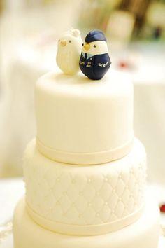 Love birds, military rendition. #wedding #caketopper