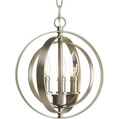 Thomasville Lighting - Equinox Collection 3-light Burnished Silver Pendant - 785247170234 - Home Depot Canada