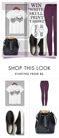 """NEW ROMWE CONTEST, WIN ''White Skull Print T-shirt''"" by mini-kitty ❤ liked on Polyvore featuring 2LUV, N°21 and Longines"