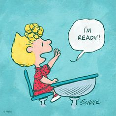 Ready for the week! Woodstock Charlie Brown, Charlie Brown Quotes, Charlie Brown Peanuts, Snoopy And Woodstock, Peanuts Snoopy, Peanuts Comics, School Days Images, Snoopy School, Sally Brown