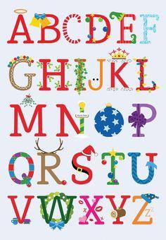 Christmas Alphabet, Alphabet Art, Calm, Artwork, Alphabet, Templates, Lyrics, Drawings, Work Of Art