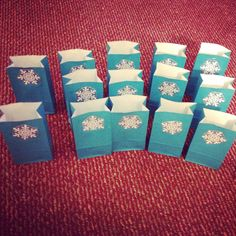 #frozen party bags made by Marissa Flores www.facebook.com/everydayhippysumter
