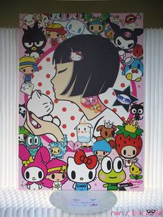 Untitled by Simone Legno aka Tokidoki.   source:  http://www.nonsolokawaii.com/sanrio-for-smiles-exhibition-at-mi-japan/
