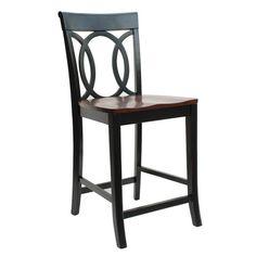 Vintage Toledo Bar Chair Distressed Black Bar Amp Counter
