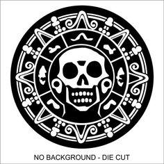 Pirate Skull Medallion decal sticker car, truck, window, lap top – Many Colors – car stickers Donatella Versace, Gianni Versace, Body Art Tattoos, Sleeve Tattoos, Ear Tattoos, Wing Tattoos, Celtic Tattoos, Pirate Skull Tattoos, Calico Jack